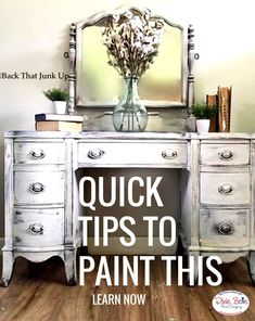 This piece painted in Dixie Belle Fluff, crisp white and simply elegant. Learn to paint,click here and watch tutorials.