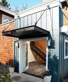 suspended awning