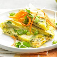 Herbed Frittata with Edamame! Amazing!