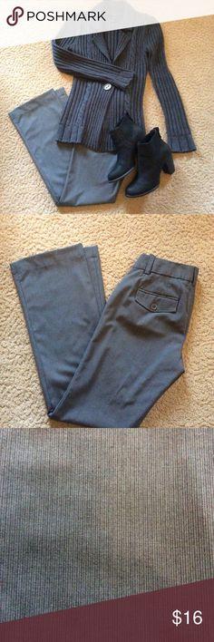 Gap Curvy Stretch Dress Pants Gap Curvy Stretch Pants,grey pinstripe  buttoned back pockets,flared leg. Sz.0,EUC GAP Pants Boot Cut & Flare