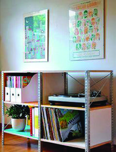 Hardware store decor: diy projects from curbly diy decor меб Steel Furniture, Home Furniture, Furniture Design, Metal Shelves, Shelving, Mesa Metal, Store Layout, Decoration, Bookcase