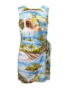 16bc342196 Check out the deal on Short Summer Sarong Rayon Dress Hana Hou at Shaka  Time Hawaii