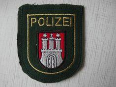 Germany Police Patch Hamburg Deutschland Polizei Hamburg 100% Original Rarity  | eBay