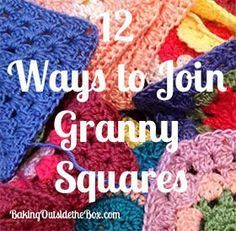 Crochet Granny Square Patterns 12 ways to join granny squares. - Here are 12 Ways to Join Granny Squares. If you've ever wondered how to attach granny squares here are 12 options. Take your pick! Joining Crochet Squares, Point Granny Au Crochet, Granny Square Häkelanleitung, Granny Square Crochet Pattern, Crochet Blocks, Connecting Granny Squares, Granny Granny, Granny Square Projects, Granny Square Tutorial