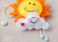 1 SIMON SAYS STAMP SPRING PLUSH FELT SUN AND CLOUD BY WANDA GUESS