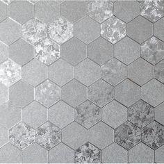 Henderson Interiors Sapphire Geode Metallic Wallpaper Silver, Gold for sale online Feature Wallpaper, Love Wallpaper, Pattern Wallpaper, Honeycomb Wallpaper, Geometric Wallpaper, Stationery Craft, Paint Companies, Metallic Wallpaper, Honeycomb Pattern