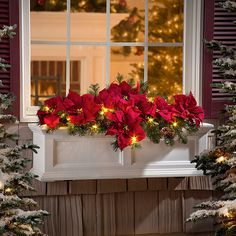 Now 67% off, $20 - Shop this and similar Improvements holiday decorations - Our Pre-Lit Poinsettia Collection adorns your home with an abundance of red blooms.O...