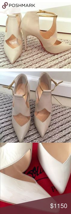 Authentic Christian Louboutin Tan color, Sz 37. Great condition. Have a few minor scuff that's not very noticeable unless you look really close. Christian Louboutin Shoes Heels