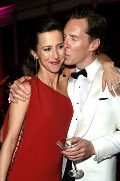 Benedict & Sophie attend the 2015 Vanity Fair Oscar Party