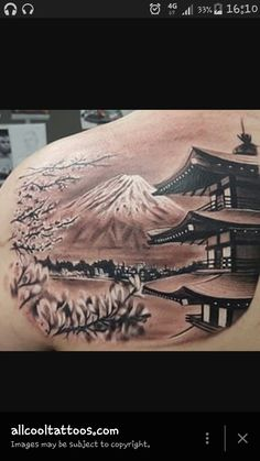 Geisha background ideas - back tattoo