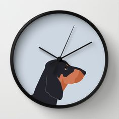 Dakota - Dachshund phone case fun and bright for pet lovers and gift for dog people Wall Clock by PetFriendly - $30.00