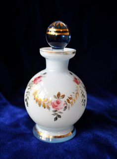 Darling Vintage Painted Glass Mini Decanter Perfume