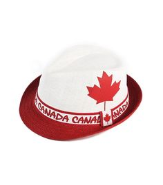947fb792970 Red Canada Flag Straw Hat - Robin Ruth Canada