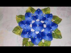 Crochet Flower Tutorial, Crochet Flower Patterns, Crochet Designs, Crochet Flowers, Embroidery Patterns, Tissue Paper Flowers, Fondant Flowers, Crochet Squares, Crochet Stitches
