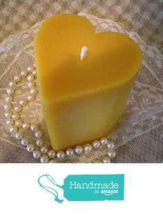 Hand Sculpted Pure Beeswax Heart Shaped Pillar Candle from Peace Blossom Candles http://www.amazon.com/dp/B01BXAKKBO/ref=hnd_sw_r_pi_dp_coehxb1S3ZN3K #handmadeatamazon