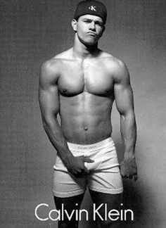 Alrighty.. He's sexy as hell. NUFF SAID! LOL!! Mark Wahlberg  Calvin Klein