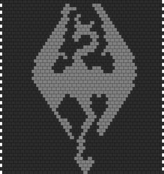 Skyrim Bead Pattern!!! whatcha think Suzy??? :D check out lots of other patterns at this website!!! http://kandipatterns.com/