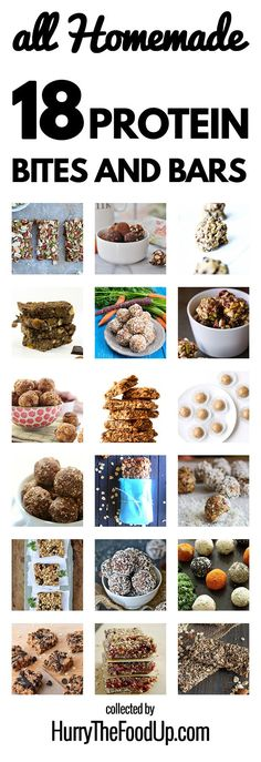 A round-up of the best homemade protein bites and bars from around the world   hurrythefoodup.com