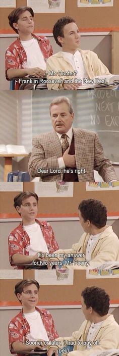 Shared by vaffanculoes. Find images and videos about lol, boy meets world and funny on We Heart It - the app to get lost in what you love.