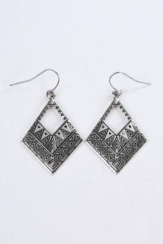 Boucle d'oreille femme aztèque ethnique