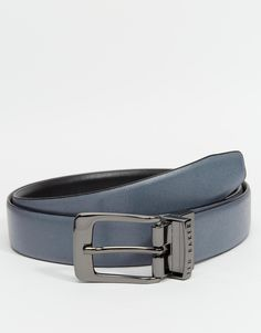 """Belt by Ted Baker Reversible design Lightly textured leather Pin buckle fastening Adjustable fit Single keeper Treat with a leather protector 100% Real Leather Belt width: 3cm/ 1"""""""