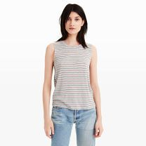 Nation LTD Stripe Tank - Started by Jen Menchaca in 2005 in a quest to recreate her one of her dad's well-loved tees, Nation LTD has been making perfectly worn tees for women for over a decade now. This sporty striped tank is one of our new favorite warm weather staples.