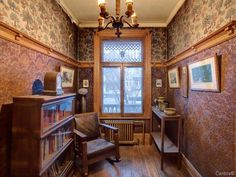 Interior of old Victorian house in Montreal