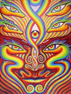 I watched Alex Grey make this Spontaneous painting at the 2011 Rainbow Serpent Festival in Australia Rainbow Serpent Festival, Alex Gray Art, Sacred Geometry Tattoo, Psy Art, Visionary Art, Psychedelic Art, Art Inspo, Illustration, Street Art