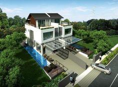 singapore bungalow roof garden - Google Search