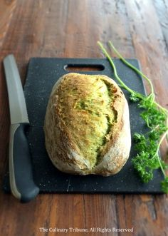 Artisan Parsley Bread // The Culinary Tribune