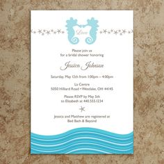 Beach Invitation DIY Printable PDF Beach by DesignsWithStyle