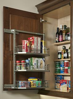 Pantry wall cabinet by #WoodMode.
