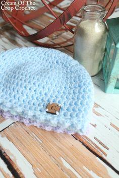 c4ce80a95b2 Picot Newborn Hat Crochet Pattern