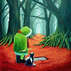 Шотландскую художницу Вики Маунт (Vicky Mount) на творчество вдохновляют коты. Она создает различные их портреты.«Я хотела быть художником, сколько я себя помню. Оглядываясь на свое детство, мне кажется, что я всегда рисовала и красила. В 11 лет мне было позволено нарисовать мурал на стене ванной комнаты большой леди, одетой в красный купальный костюм и танцующей на побережье.