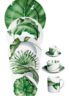 Ideas Kitchen Green White Plants For 2019 Pottery Painting, Ceramic Painting, Ceramic Art, Green Kitchen, Kitchen Plants, Kitchen White, White Plants, China Painting, Dinner Sets