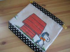 Mother Bag シーツリメイクハンドメイドスヌーピーお着替え巾着おむつポーチ インテリア 雑貨 Handmade ¥1650yen 〆05月27日