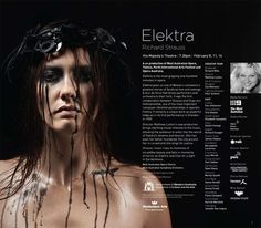 WA Opera | Elektra by Richard Strauss Richard Strauss, Art Festival, Opera, Legends, Music, Movie Posters, Design, Musica, Musik