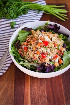 Quinoa and salmon salad — a surprisingly simple, yet flavorful combo.