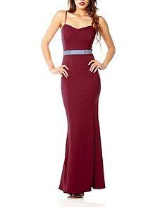Berry Fishtail Maxi Dress