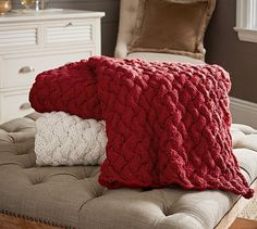 Cozy up with a hand knit throw and light up a roaring fire as the air starts to crisp and temperatures dip.