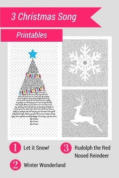 3 free Christmas Song Printables