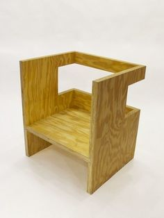 Cube Chair (+ Subtraction) (2010) by RO/LU, via Artsy