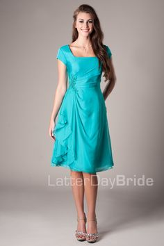The Bridesmades Dresses(: But orange or yellow(: Latter-Day Bride, Irene.