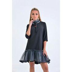 f711e5c76e8 Элегантное офисное платье из костюмной ткани с фатином  zuhvala  fashion   fashionukraine  одеждаосень