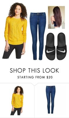 """OOTD/Family picture day"" by mbrownie1231 ❤ liked on Polyvore featuring Mossimo Supply Co., Ally Fashion and NIKE"