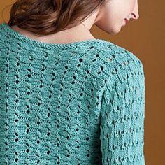 Light Bolero - a sideways-knit cropped cardigan. http://ift.tt/1SnWz3c #knitting