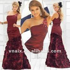 Mermaid MAROON Taffeta One Shoulder Prom Dress  _____________________________ Reposted by Dr. Veronica Lee, DNP (Depew/Buffalo, NY, US)