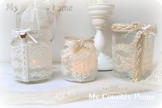 MY COUNTRY HOME: Vintage Lantern candle holders