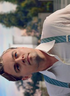 Leonardo DiCaprio, The Great Gatsby. Ooh like these blue with white striped suspenders!