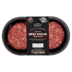 Tesco Finest 4 British Beef Steak Burgers 454G